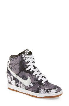 Nike 'Dunk Sky Hi' Wedge Sneaker (Women) available at Sneaker Heels, Wedge Sneakers, High Top Sneakers, Shoes Sneakers, High Heels, Nike Air Max For Women, Nike Women, Wedged Trainers, Nike Kicks