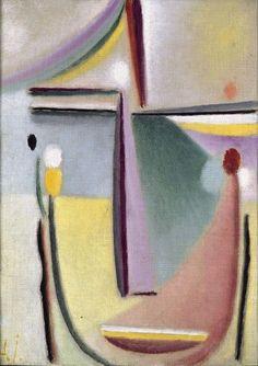 """Alexej von Jawlensky, """"Abstrakter Kopf"""" (Abstract Head) (1921), via Artsy.net"""