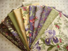 Audra's Iris Garden, Moda fabric Fat Quarter Bundle