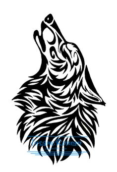 Howling Tribal Design by *InsaneRoman on deviantART