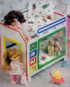 Rare Fashion Barbie Kelly Doll Tikes Nursery BUNK BED by LUVFUR, $10.50