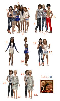 Children posebox by Klira. This posebox you can download here: http://www.sims2city.com/f7-forum