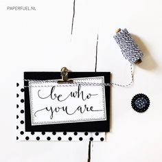Be who you are! #garnundmehr #lettering #paperfuel