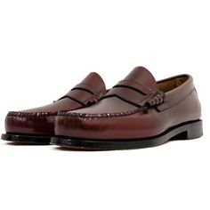 4a3c2245fdc Bass Weejuns Bass Weejun Larson Burgundy Loafer Shoe D FIT