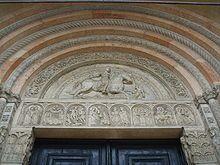 Cattedrale di San Giorgio (Ferrara) - Il portale di Nicholaus Niccolò