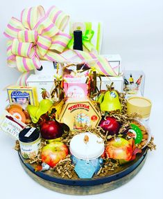 """We can create a special basket to say """"we're thinking of you"""", with all your favorites! Corporate Gifts, Gift Baskets, Customized Gifts, Your Favorite, Thinking Of You, Table Decorations, Create, Gift Basket, Sympathy Gift Baskets"""