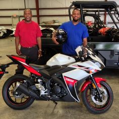 Thanks to Reginald Presley and James Jones from Laurel MS for getting a 2016 Yamaha R3 at Hattiesburg Cycles