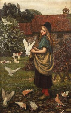Arthur Hughes - The pet of the farm | por irinaraquel