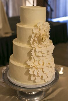 Perfect wedding cake for a reception at The Fearrington Barn