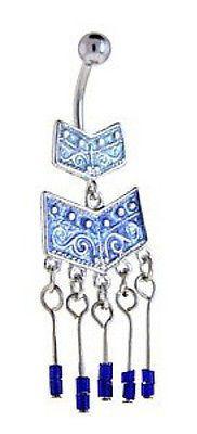 Sapphire Blue Southwestern Chandelier Belly Navel Ring
