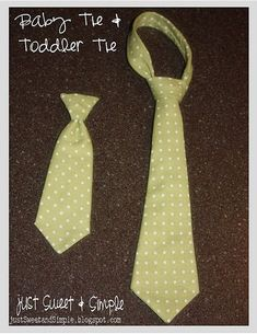 Tutorial for how to make Baby and toddlers neckties. I'm sure thats the exact fabric I need to make ties out of for a wedding!