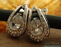 GENEWA - srebrne kolczyki z kryształami
