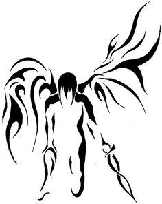 Tribal Angel 1 by ~CradlesPoison on deviantART