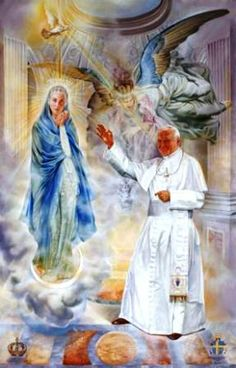 Blessed Virgin Mary and Her Pope John Paul II