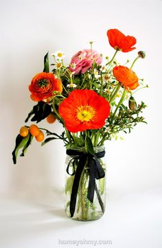 styling, flowers, poppies
