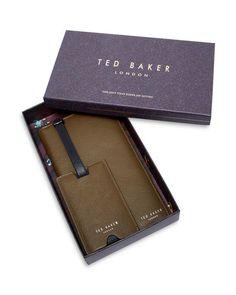 Ted Baker Travla Travel Wallet & Luggage Tag Set
