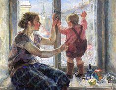 Nikolay Terpsikhorov- Window to the world, 1928