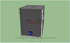 √ Skema Box Speaker Subwoofer RCF 15 inch