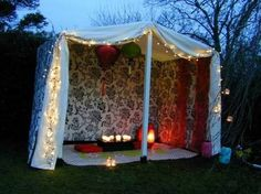 diy boho tent - Google Search