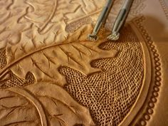 How to apply, create, texture, and dye a design for a leather armguard. Technique could be applied to any number of leather accessories or items.
