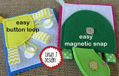 Little Pages Set 2 FELT ACTIVITY Cards Quiet Book .PDF Pattern