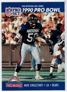 c93725769 1990 NFL Pro Set (1990 Pro Bowl) Mike Singletary   416 - Football Trading  Cards