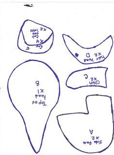 Growlith plush pattern 1 by Kurosakou on DeviantArt (growlith face)