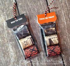 Halloween Goodie Bags, Halloween Candy, Holidays Halloween, Vintage Halloween, Halloween Banner, Fall Candy, Teacher Christmas Gifts, Craft Show Ideas, Card Maker