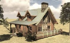 Cottage House Plan with Loft