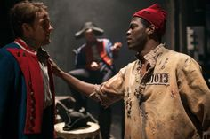 Prisoner and guard connect. Andrew Kober, Nathaniel Hackmann and Kyle Scatliffe backstage before the curtain rises. Photo by Max Gordon Photography. Jean Valjean, Victor Hugo, Behind The Scenes, Theatre, Broadway, Nyc, Baseball, Music, People
