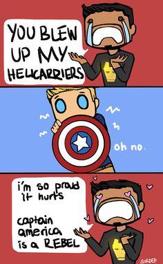 Tony is so proud  Tony you've been rubbing off on cap