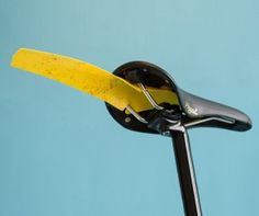 The Ass Saver is a new kind of mudguard – a compact one that fits onto a road bike without any fixings or tools. This tiny bit of plastic wi...