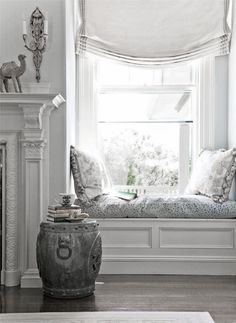 ♅ Dove Gray Home Decor ♅  windowseat