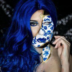 Kennt ihr eigentlich KINTSUGI? 😳 Es ist eine japanische Philosophie, bei der zerbrochener Keramik neues Leben eingehaucht 💨 wird, indem man sie erneut zusammen setzt und die Bruchstellen ⚡️ mit GOLD bemalt bzw. nachgezogen werden 🎨 Ziemlich kreativ oder?? Dieser Look soll an diese Technik erinnern. 💕⠀ —————————————————————————-⠀ 📸 @miksch.photographie ⠀INSPO: @cindychendesigns ⠀ #kintsugi #makeupblog #makeupblogger #makeuplovers #makeupmafia #makeupforever #makeupart #makeupjunkie… Kintsugi, Halloween Face Makeup, Make Up, Gold, Instagram, Philosophy, New Life, Creative, Makeup