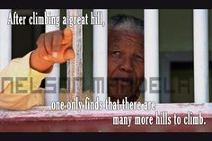 Nelson Mandela - visit to see all 45 images and quotes plus the video Nelson Mandela Quotes, Great Leaders, One And Only, Reading, Climbing, God, Inspiration, Image, Quotes By Nelson Mandela