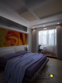 Совмещенная спальня с косым балконом в чешке
