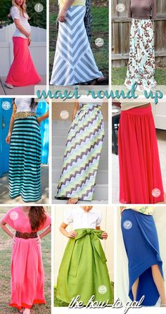 Maxi dress tutorials and maxi skirt tutorials - The Tres Chic