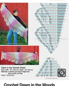 Queue de dragon | crochet scarves, shawls, wraps | Crochet ...