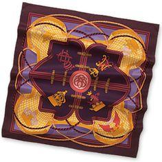 "Grande Tenue - Purple  Silk twill scarf, hand rolled, 36"" x 36"""