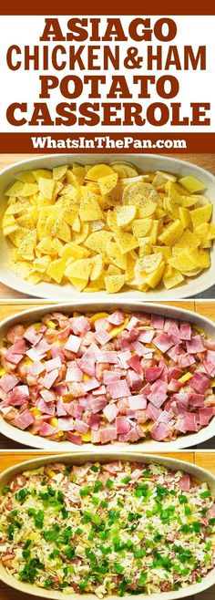 Asiago Cheese Ham and Potato Casserole