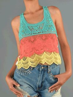 Color Crochet Tank