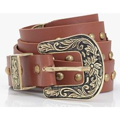 Boohoo Angel Western Buckle Belt ($16) ❤ liked on Polyvore featuring accessories, belts, tan, tan belt, metal belt, skinny metal belt, skinny braided belt and buckle belt
