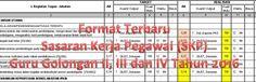 Format Terbaru Sasaran Kerja Pegawai (SKP) Guru Golongan II III dan IV Tahun 2016 dengan Microsoft Excel