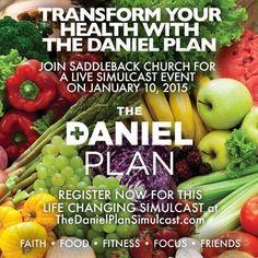 "Host ""The Daniel Plan"" Simulcast Event at your church! Get Healthy, Healthy Eating, Healthy Heart, Healthy Food, Daniel Fast, Dr Daniel, The Daniel Plan, Brain Health, Mental Health"