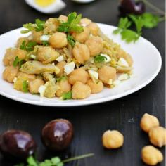 Portuguese Chickpea and Cod Salad - so simple, hearty, and delicious.