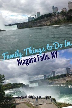 Family things to do in Niagara Falls, NY with kids, including Cave of the Winds and Maid of the Mist.