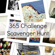365 challenge scavenger hunt- this particular blog post doesn't really have much helpful info, but I like the idea of this project, so I'm keeping the picture.
