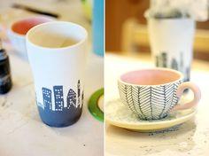 date idea: paint ceramic
