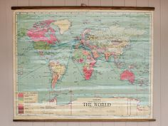 Vintage Wall World Map https://www.scaramangashop.co.uk/item/8082/145/Gifts-For-The-Home/Vintage-Wall-World-Map.html