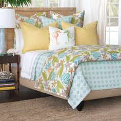 Luxury Bedding by Eastern Accents - Lavinia Island Home Collection Queen Bedding Sets, Luxury Bedding Sets, Comforter Sets, Luxury Bedding Collections, Home Collections, Bed Duvet Covers, Duvet Cover Sets, Coastal Bedding, Eastern Accents